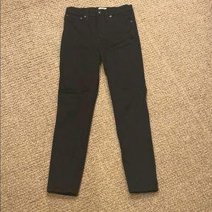 "J Crew Black 10"" High Rise Toothpick Jeans Size 27"